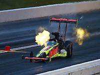 May 20, 2016; Topeka, KS, USA; NHRA top fuel driver J.R. Todd during qualifying for the Kansas Nationals at Heartland Park Topeka. Mandatory Credit: Mark J. Rebilas-USA TODAY Sports