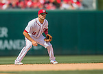 15 May 2016: Washington Nationals shortstop Danny Espinosa in action against the Miami Marlins at Nationals Park in Washington, DC. The Marlins defeated the Nationals 5-1 in the final game of their 4-game series.  Mandatory Credit: Ed Wolfstein Photo *** RAW (NEF) Image File Available ***
