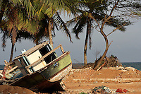 Hambantota, Sri Lanka. Scenes after the tsunami 26.12.04