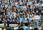 06 October 2007: UNC students cheer for their team. The University of North Carolina Tar Heels defeated the University of Miami Hurricanes 33-27 at Kenan Stadium in Chapel Hill, North Carolina in an Atlantic Coast Conference NCAA College Football Division I game.