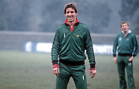 Chris Nicholl, footballer, N Ireland &amp; Southampton, during a training session at St Albans prior to their international fixture against England at Wembley, London, UK. 19820223014CN<br /> <br /> Copyright Image from Victor Patterson, 54 Dorchester Park, Belfast, UK, BT9 6RJ<br /> <br /> t: +44 28 90661296<br /> m: +44 7802 353836<br /> vm: +44 20 88167153<br /> e1: victorpatterson@me.com<br /> e2: victorpatterson@gmail.com<br /> <br /> For my Terms and Conditions of Use go to www.victorpatterson.com