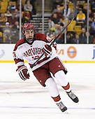 Tommy O'Regan (Harvard - 13) - The Boston College Eagles defeated the Harvard University Crimson 4-1 in the opening round of the 2013 Beanpot tournament on Monday, February 4, 2013, at TD Garden in Boston, Massachusetts.