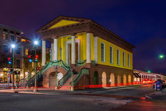 Charleston, South Carolina, Market Hall, Greek Revival Style, National Historical Landmark, National Register Of Historic Places, City Market, Meeting Street