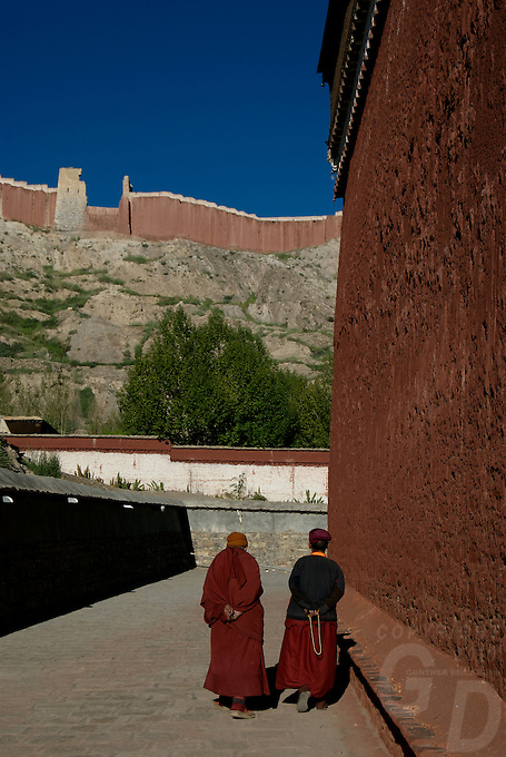 Buddhist Monks at a Monastery, Tibet, China