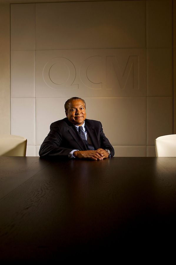Aref Karim, Chief Executive Officer and founder of QCM - Quality Capital Management at their offices in Weybridge, UK.