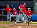 23 February 2013: Washington Nationals outfielder Bryce Harper in action during a Spring Training Game against the New York Mets at Tradition Field in Port St. Lucie, Florida. The Mets defeated the Nationals 5-3 in their Grapefruit League Opening Day game. Mandatory Credit: Ed Wolfstein Photo *** RAW (NEF) Image File Available ***
