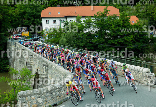 Peloton at Zidani most during Stage 4 of 22nd Tour of Slovenia 2015 from Rogaska Slatina to Novo mesto (165,5 km) cycling race  on June 21, 2015 in Slovenia. Photo by Vid Ponikvar / Sportida