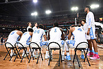 GLENDALE, AZ - APRIL 03: the North Carolina Tar Heels players meet during the 2017 NCAA Men's Final Four National Championship game against the Gonzaga Bulldogs at University of Phoenix Stadium on April 3, 2017 in Glendale, Arizona.  (Photo by Jamie Schwaberow/NCAA Photos via Getty Images)