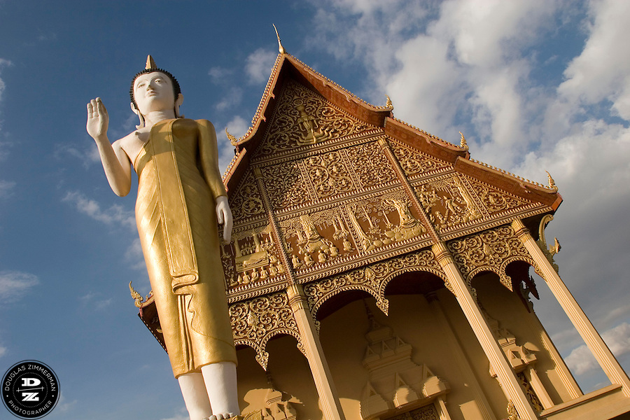 A temple located next to Pha That Luang, the Golden Stupa, in Vientiane, Laos. Photograph by Douglas ZImmerman