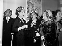 Margaret Burke Sheridan (second from right), La Scala Milan, at Inauguration of Italian Cultural Institute.20/04/1954..Margaret Burke-Sheridan (15/10/1889 ?16/04/1958) was an Irish opera singer. Born in Castlebar, Co Mayo, Ireland, she was known as Maggie from Mayo and is regarded as Ireland's second prima donna (after Catherine Hayes (1818-1861))..She was a soprano and for 12 years performed at La Scala and Covent Garden where she enthralled the opera-goers. When she played the part of Madame Butterfly, Puccini was spellbound. Bríd Mahon in her 1998 book While Green Grass Grows p 123, states that: ?It was rumoured that an Italian whose overtures she had rejected had blown his brains out in a box in La Scala, Milan, while she was on stage and that after the tragedy she never sang in public again.? She died in relative obscurity in 1958 and her remains buried in Glasnevin cemetery, Dublin..