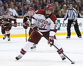 Marshall Everson (Harvard - 21) - The Boston College Eagles defeated the Harvard University Crimson 4-1 in the opening round of the 2013 Beanpot tournament on Monday, February 4, 2013, at TD Garden in Boston, Massachusetts.