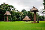 Quirigua Archaeological Park in Guatemala is one of the smaller Mayan sites, but also one of the most notable due to the artistry of its stelae, which Mayan rulers during the Classic Period commissioned to commemorate important political and dynastic events. Nowadays, the temples and palaces lie in ruins around the pleasant green park that once was the great plaza of Quirigua and archaeologists are only now piecing them back together.  Quirigua features a total of 22 carved stelae and zoomorphs (large boulders carved to represent animals and covered with figures and glyphs), which are among the finest examples of classic Mayan stone carvings.