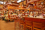 Saluhall, an indoor market with stalls selling fruit, cheese, bread, meat, and more in Stockholm, Sweden
