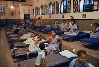 Women and girls cared for in dormitory at Mother Teresa's Mission for the Poor in Calcutta, India