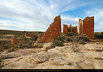 Hovenweep Castle, Anasazi Hisatsinom Ancestral Puebloan Site, Square Tower Settlement, Little Ruin Canyon, Hovenweep National Monument, Colorado - Utah Border