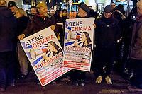 Roma 11 Febbraio 2015<br /> Manifestazione di solidariet&agrave; al popolo greco, sotto l&rsquo;Ambasciata Tedesca, contro la dittatura della Troika contro austerity e  il ricatto del debito e per un&rsquo;Europa unita dalle lotte e dalla solidariet&agrave;.<br /> Rome February 11, 2015<br /> Demonstration of solidarity with the people greek, in front the German Embassy, against the dictatorship of the Troika against austerity and the blackmail of the debt and for a united Europe from the struggles and solidarity.