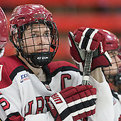 Dan Ford (Harvard - 5) - The Harvard University Crimson honored their seniors following their final home game of the regular season on Saturday, February 22, 2014 at the Bright-Landry Hockey Center in Cambridge, Massachusetts.