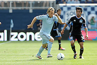 Kansas City midfielder Michael Harrington in action... Sporting Kansas City defetaed San Jose Earthquakes 2-1 at LIVESTRONG Sporting Park, Kansas City, Kansas.