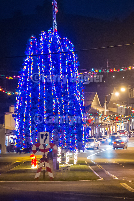 Christmas lights, Main St., Sutter Creek, Calif