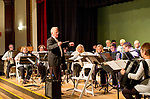 Waterbury, CT- 21  May 2017-052117CM04-  Peter Peluso leads the Connecticut Accordion Association orchestra along with students from Wolcott High School during a concert at the Mattatuck Museum on Sunday.  The song list included a blend of movie classics including jazz, classical and popular music. The group is looking to reintroduce the accordion into schools through an initiative called Bellows Up: The Great Squeeze Project.  Christopher Massa Republican-American