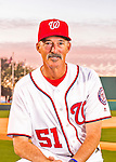 28 February 2016: Washington Nationals Pitching Coach Mike Maddux poses for his Spring Training Photo-Day portrait at Space Coast Stadium in Viera, Florida. Mandatory Credit: Ed Wolfstein Photo *** RAW (NEF) Image File Available ***
