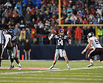 Ole Miss quarterback Bo Wallace (14) vs. Texas A&amp;M defensive lineman Spencer Nealy (99) in Oxford, Miss. on Saturday, October 6, 2012. Texas A&amp;M won 30-27...