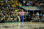 01 APRIL 2012:  Baylor University coach Kim Mulkey coaches her team against Stanford during the Division I Women's Final Four semifinals at the Pepsi Center in Denver, CO.  Baylor defeated Stanford 59-47 to advance to the championship final.  Stephen Nowland/NCAA Photos