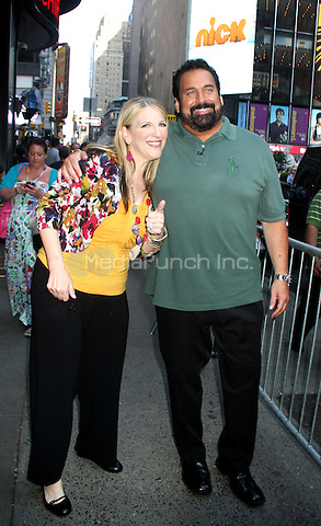 July 24, 2012 Lisa Lampanelli and her husband Jimmy Cannizzaro at Good Morning America in New York City to discuss their weight loss surgery. © RW/MediaPunch Inc.