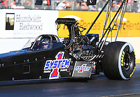 Jul 29, 2016; Sonoma, CA, USA; NHRA top fuel driver Steve Faria during qualifying for the Sonoma Nationals at Sonoma Raceway. Mandatory Credit: Mark J. Rebilas-USA TODAY Sports