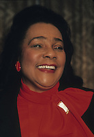 New York, NY - 12 Oct 1990 - Coretta Scott King (April 27, 1927 ? January 30, 2006) was the wife of the civil rights activist Martin Luther King, Jr., and a noted civil rights leader, author, singer, and founder and former president of the King Center in Atlanta, Georgia. She is a recipient of the Congressional Gold Medal and the Gandhi Peace Prize.