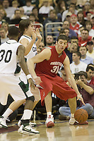 December 18, 2007: Ohio State center, Kosta Koufos #31, works against Cleveland State center Chris Moore #42 during the John McClendon Scholarship Classic in Cleveland, Ohio. Ohio State won the match 80-63. Michael Ciu / CSM.
