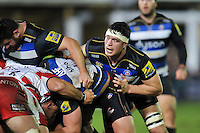 Francois Louw of Bath Rugby looks on at a scrum. Aviva Premiership match, between Bath Rugby and Gloucester Rugby on February 5, 2016 at the Recreation Ground in Bath, England. Photo by: Patrick Khachfe / Onside Images