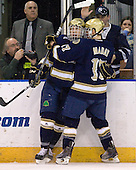 ?, Billy Maday (Notre Dame - 17) - The University of Notre Dame Fighting Irish defeated the Merrimack College Warriors 4-3 in overtime in their NCAA Northeast Regional Semi-Final on Saturday, March 26, 2011, at Verizon Wireless Arena in Manchester, New Hampshire.