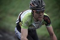 Dwars Door Vlaanderen 2013.Maxime Vantomme (BEL) on the Oude Kwaremont