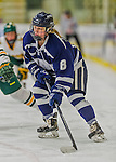 14 February 2015: University of New Hampshire Wildcat Forward Nicoline Jensen, a Junior from Rodovre, Denmark, in second period action against the University of Vermont Catamounts at Gutterson Fieldhouse in Burlington, Vermont. The Ladies played to a 3-3 tie in their final meeting of the NCAA Hockey East season. Mandatory Credit: Ed Wolfstein Photo *** RAW (NEF) Image File Available ***