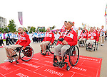 LONDON, ENGLAND – 08/26/2012:  Canada's Flag Raising Ceremony at the London 2012 Paralympic Games. (Photo by Matthew Murnaghan/Canadian Paralympic Committee)