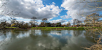 BNPS.co.uk (01202 558833)<br /> Pic: PhilYeomans/BNPS<br /> <br /> Eton College near Windsor today.<br /> <br /> 'Old man river, he just keeps rollin' - A remarkable collection of panoramic photographs of the Thames taken 160 years ago have emerged for auction, and they reveal how little the famous old river has changed in the last century and a half.<br /> <br /> They follow the river from London to Oxford in 40 photographs providing a fascinating insight into how the famous river looked in the mid-19th century.<br /> <br /> Londoner Victor Prout started photographing the Thames in 1857 using a camera which would produce wide-vision images because of a lens that swung round and 'scanned' sections of the picture.<br /> <br /> This rare complete copy of the first edition of Prout's pioneering panoramics has emerged for auction and is tipped to sell for &pound;12,000 when they go under the hammer at Bonhams on March 1.