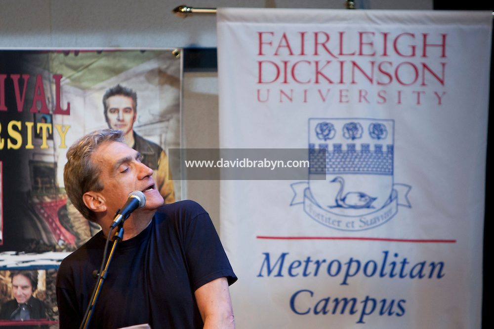 Former US Poet Laureate Robert Pinsky talks at the 2010 literary and music festival WAMFest at Fairleigh Dickinson University, Madison, NJ, USA, 6 May 2010.