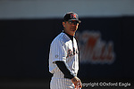 Ole Miss head coach Mike Bianco vs. Oakland University in Oxford, Miss. on Sunday, February 28, 2010. Ole Miss won 9-3.