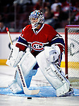 22 March 2010: Montreal Canadiens' goaltender Carey Price warms up prior to a game against the Ottawa Senators at the Bell Centre in Montreal, Quebec, Canada. The Senators shut out the Canadiens 2-0 in their last meeting of the regular season. Mandatory Credit: Ed Wolfstein Photo