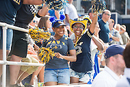 Annapolis, MD - SEPT 10, 2016: Navy Midshipmen fans are excited after a Navy touchdown during their match up against Connecticut at Navy-Marine Corps Memorial Stadium in Annapolis, MD. Navy held on to defeat Connecticut 28-24. (Photo by Phil Peters/Media Images International)