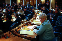 Members of the New Jersey Assembly attend a meeting to approve assisted suicide Bill for prescribing life-ending drugs to terminally ill patients.  10.13.2014. Eduardo Munoz Alvarez/VIEWpress