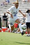 Sarah McCabe, of Duke, on Sunday September 18th, 2005 at Koskinen Stadium in Durham, North Carolina. The Duke University Blue Devils defeated the University of San Diego Toreros 5-0 during the Duke adidas Classic soccer tournament.