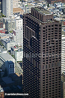 aerial view above Bank of America Center 555 California Street San Francisco