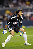 Luis Ernesto Michel Chivas Guadalajara goalkeeper... Sporting Kansas City played Chivas Guadalajara to a 2-2 tie at LIVESTRONG Sporting Park, Kansas City, Kansas in an international friendly.