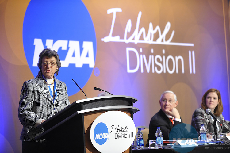 14 JAN 2010: The Division II Business Session at the 2010 NCAA Convention held at the Marriott Marquis and the Hyatt Regency in Atlanta, GA. Stephen Nowland/NCAA Photos.Pictured:.