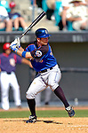 15 March 2006: Jeff Keppinger, infielder for the New York Mets, at bat during a Spring Training game against the Washington Nationals. The Mets defeated the Nationals 8-5 at Space Coast Stadium, in Viera, Florida...Mandatory Photo Credit: Ed Wolfstein..