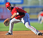 5 March 2012: Washington Nationals infielder Zachary Walters fields some practice grounders prior to a Spring Training game against the New York Mets at Digital Domain Park in Port St. Lucie, Florida. The Nationals defeated the Mets 3-1 in Grapefruit League play. Mandatory Credit: Ed Wolfstein Photo