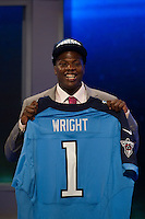 The 20th overall pick wide receiver Kendall Wright (Baylor) of the Tennessee Titans during the first round of the 2012 NFL Draft at Radio City Music Hall in New York, NY, on April 26, 2012.