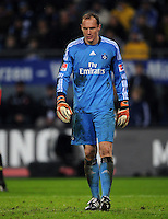 FUSSBALL   1. BUNDESLIGA   SAISON 2011/2012   18. SPIELTAG Hamburger SV - Borussia Dortmund     22.01.2012 Jaroslav Drobny (Hamburg) enttaeuscht